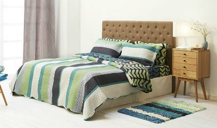 Colcha Estampada Tribal Gris. Visítanos en tuakiti.com #colcha #quilt #decoracion #homedecor #hogar #home #habitacion #bedroom #tuakiti