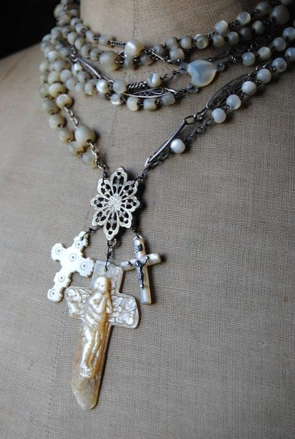 """Christine Wallace... """"Honoring Life Through Jewelry"""": French Mother of Pearl..."""