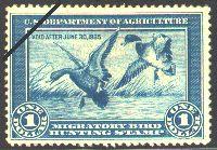 "Federal Duck Stamp  (1934-1935)  Mallards  by J.N. ""Ding"" Darling"