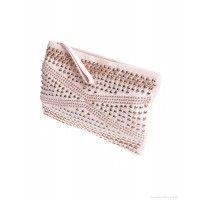 Hoss Intropia Ladies' Leather Clutch Bag - Nude - Sale   Country Attire