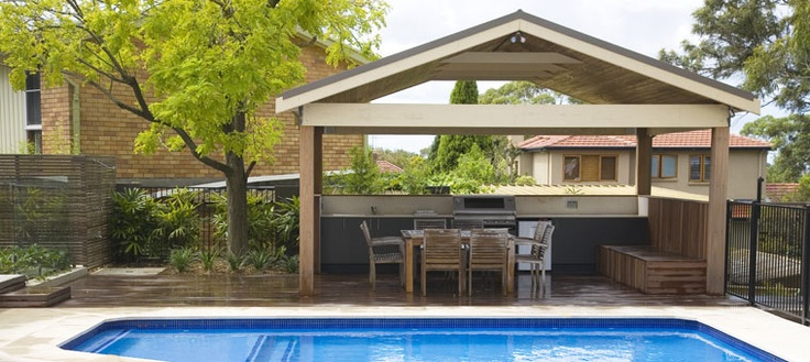 Swimming Pool Cabana Ideas there are several things to consider when planning to build a pool house cabana but with an eye for detail and careful planning you can have everything Swimming Pool Renovation Ideas Cabana Design Pool Design North Shore Backyards Pinterest Pool Designs And Cabana