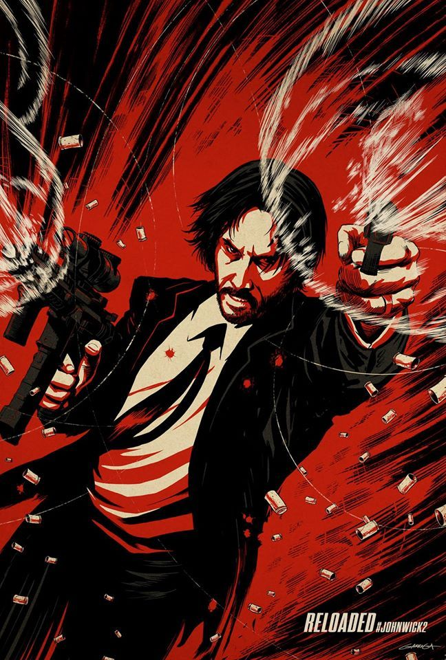 JOHN WICK: Chapter 2 ILLUSTRATED POSTERS.