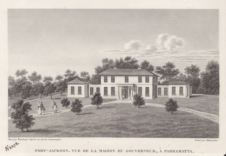 Government House, Parramatta 1826 - Vue De La Maison Du Gouverneur, A Parramatta