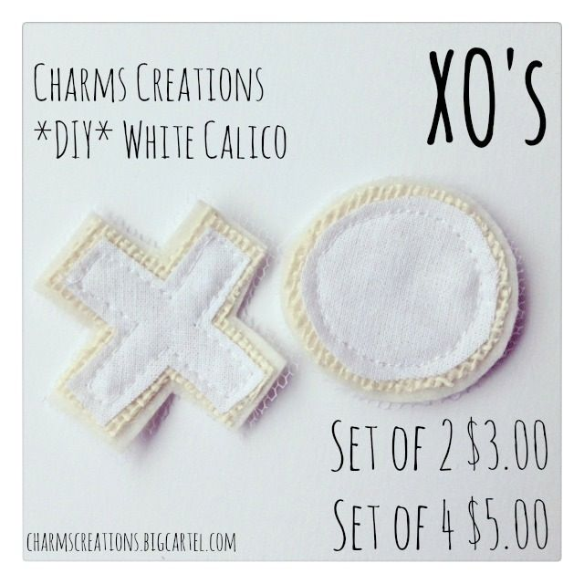 *DIY* White Calico XO's / Charms Creations