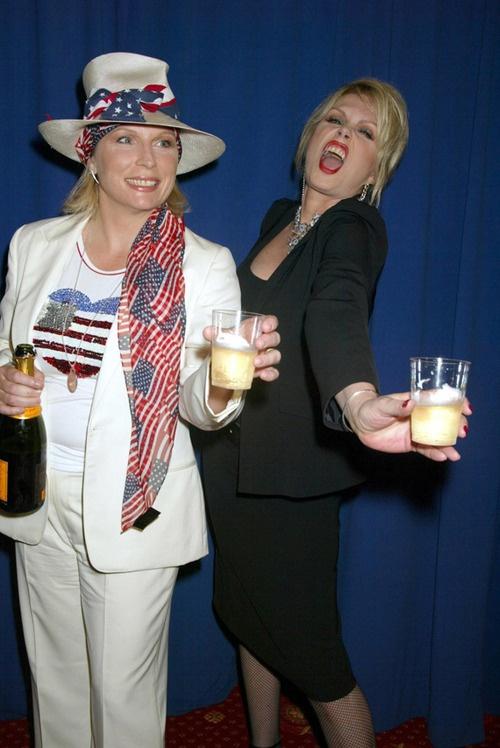 Jennifer Saunders & Joanna Lummey