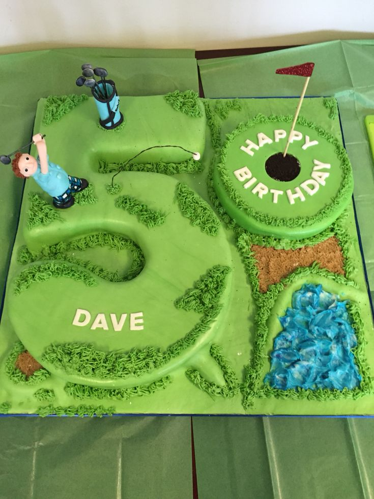 Golf theme 50th birthday cake