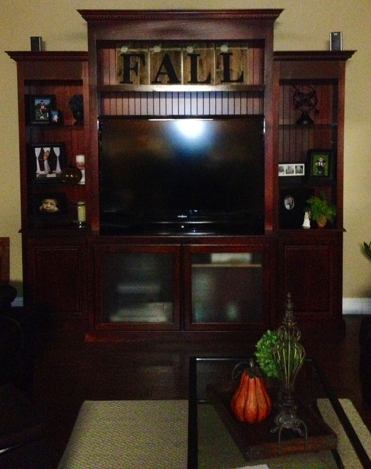 Entertainment Center made by my dad and myself