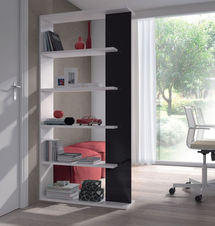 Aida 5 Tier Bookcase Room Divider Display Unit White / Black High Gloss Melamine in Home, Furniture & DIY, Children's Home & Furniture, Furniture | eBay