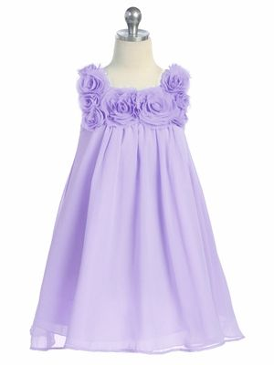 lilac flower girl dress with rose bud collar. Perfect for a spring wedding