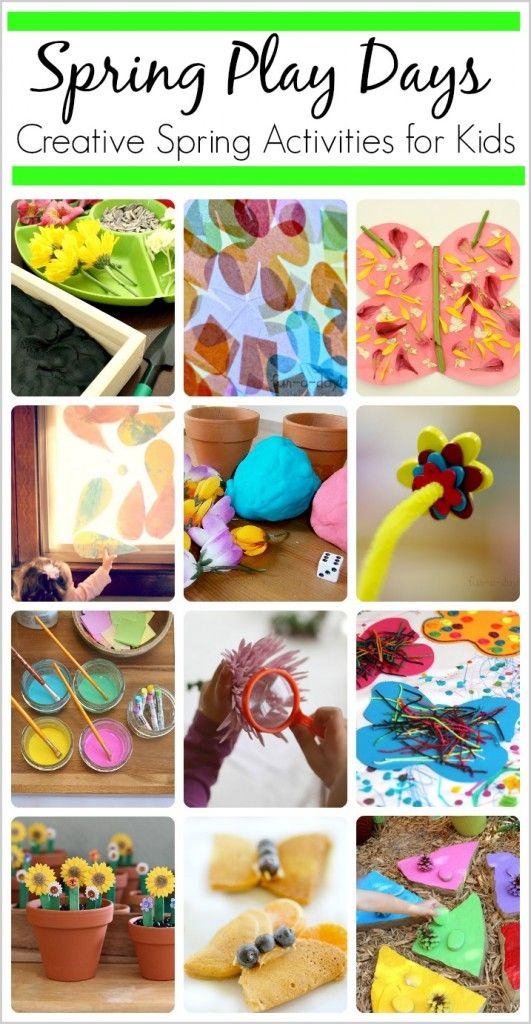 15 creative activities for kids including ways to explore, create, and learn about spring!