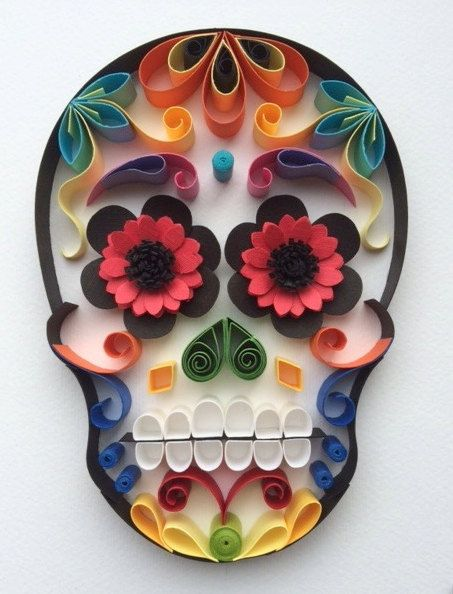 """Sugar Skull / Calavera Mexicana """"Happy Face"""""""