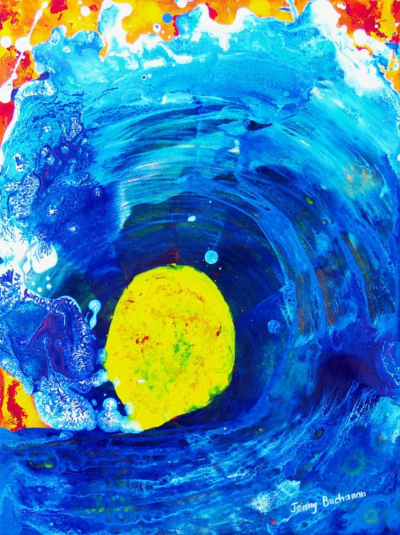 Small Painting Abstract Art Ocean Painting Original Abstract