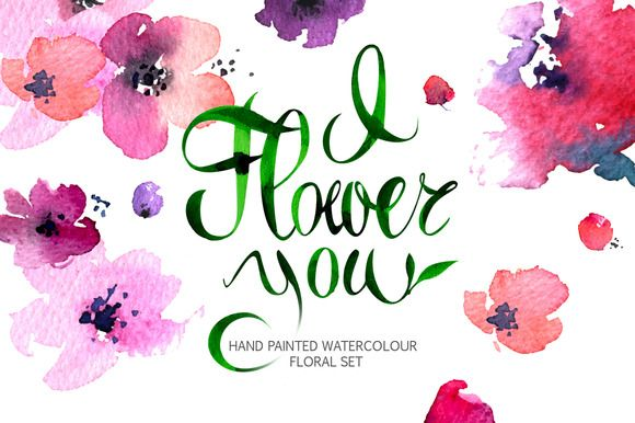 Vector Floral Collection of Painted by Little Unicorn on Creative Market