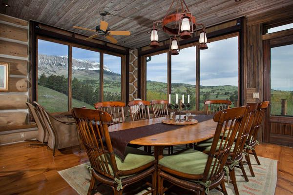 Architecture, Beautiful Dining Room Table Wooden Residence Design Wildlife Area: Beautiful and Stunning Residence Design Located in Protecte...