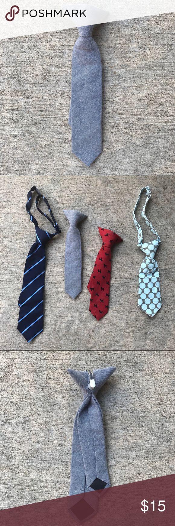 Clip on Tie - Grey Clip on Tie - grey -8-9 inches. Crewcuts Accessories Ties