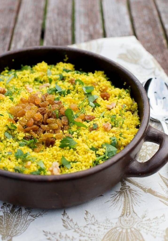 Ensalada De Couscous Y Pasas En Mi Cocina Hoy Recetas Vegetarianas Comida Como Cocinar Cuscus