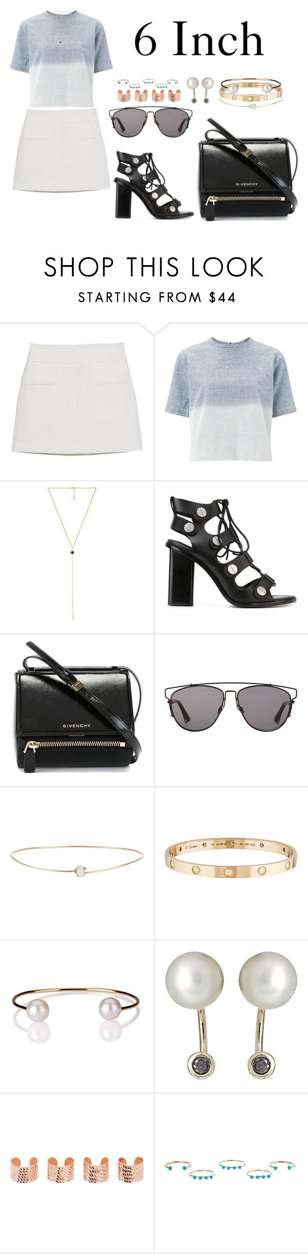 """6 Inch"" by anaelle2 ❤ liked on Polyvore featuring MANGO, rag & bone, Ettika, Alexander Wang, Givenchy, Christian Dior, Loren Stewart, Cartier, Letters By Zoe and Hirotaka"