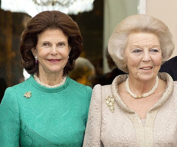 """On November 23, Wednesday, Queen Silvia of Sweden and Princess Beatrix of Netherlands attended opening of the exhibition """"Rembrandt at the Vatican: Images from Heaven and Earth"""". Queen Silvia opened the exhibition with a speech."""