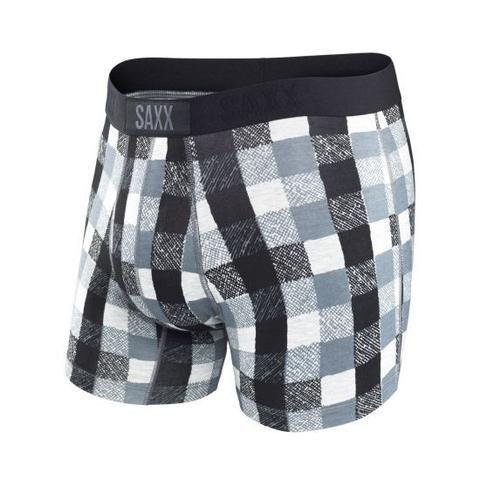 SAXX Vibe Boxer Men's Underwear Heather Lumberjack Plaid -  - Koala Logic