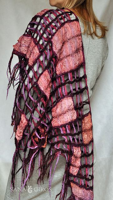 "Nuno felt scarf ""Morning city"" by Sana Art, via Flickr"