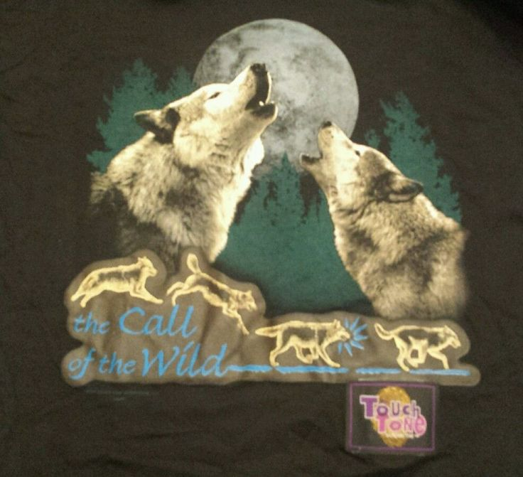 Wild Oats The Call of The Wild Wolves Howling at  Moon Touch Tone Interactive XL #WildOats #GraphicTee