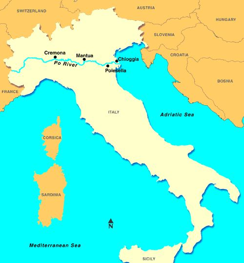 Best PO RIVER Images On Pinterest River Rivers And Italia - Po river world map