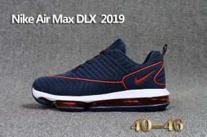 310756aef509 Mens Nike Air Max DLX 2019 Running Shoes Navy Blue Red White 849559 ...