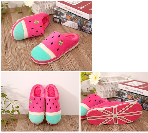 Women Casual Home Shoes Carton Indoor Slippers Cotton Warm Home Shoes