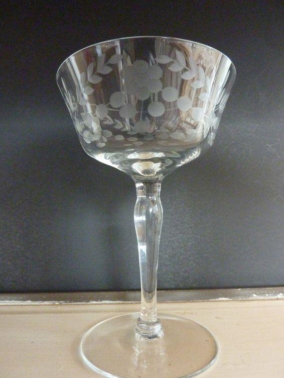 Lotus Glastonbury Cut Glassware Set of 8 by BonniesVintageAttic, $125.00