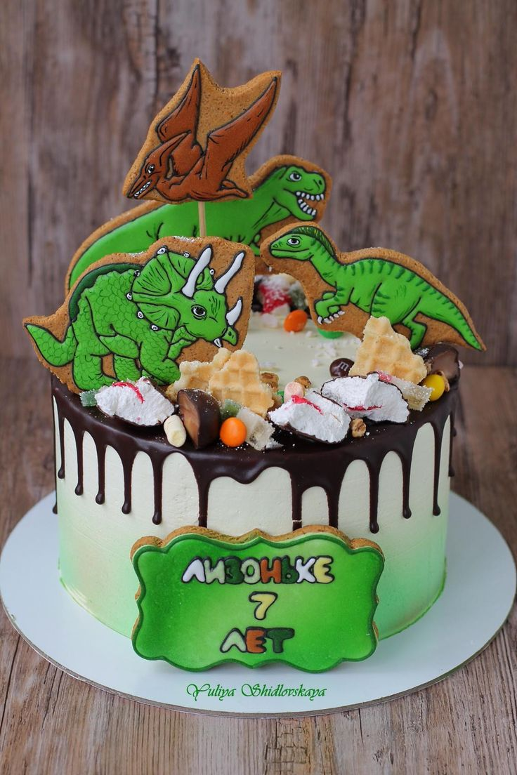 620 Best Images About Dinosaur Cakes On Pinterest