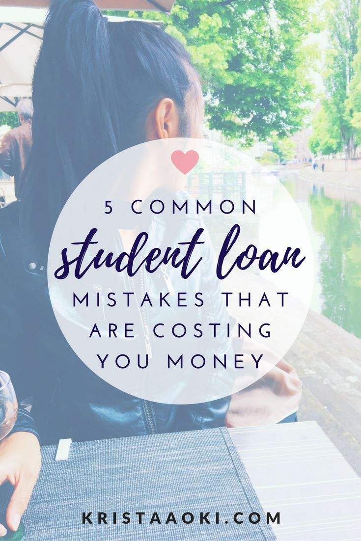 Find out the 5 student loans mistakes you are making that are costing you money. You should save thousands of dollars on your student loans by fixing these five simple mistakes. refinance student loans, personal finance, save money, interest rates, refinancing.