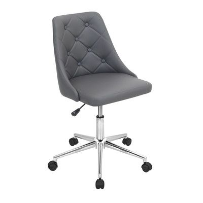 House of Hampton Newton Aycliffe Desk Chair Upholstery: Grey
