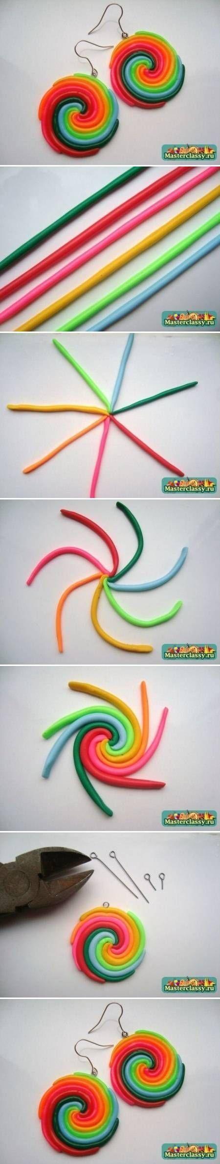 Comment faire boucles d'oreilles en pate fimo ?