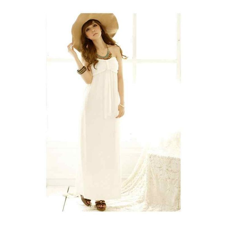 Sexy Maxi Dress LD161 Green/White Model  0470272W Condition  New  LD161 Green-White Material : Cotton Bust80 length110 Retail price IDR172,000Reseller price IDR129,000Wholesaler price IDR107,500