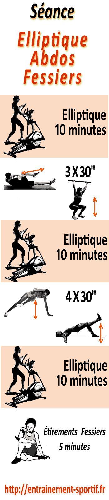 Programme cardio muscu avec vélo #elliptique pour les #abdominaux et les #fessiers http://entrainement-sportif.fr/velo-elliptique-abdos-fessiers.htm