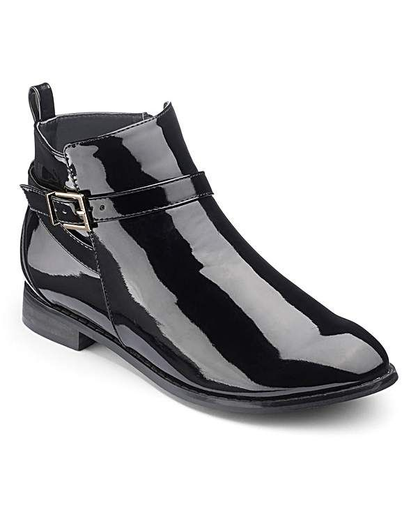 Sole Diva Patent Ankle Boots E Fit