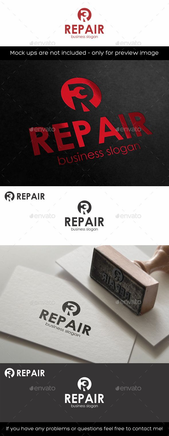 Repair Logo Template R Letter — Vector EPS #logotype #initials r • Available here → https://graphicriver.net/item/repair-logo-template-r-letter/11433319?ref=pxcr