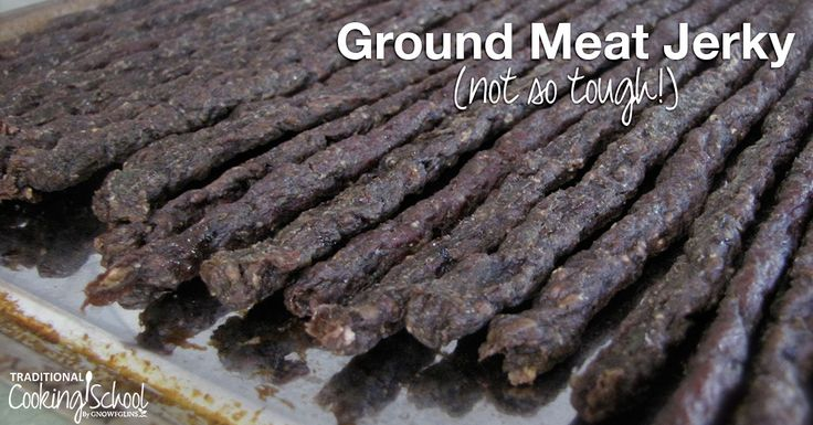 Here's my not-so-tough jerky recipe! Commercial jerky is often made with ground meat. And since the people in my family have sensitive teeth or braces, a tender jerky is just what we needed.  [by Wardee Harmon]