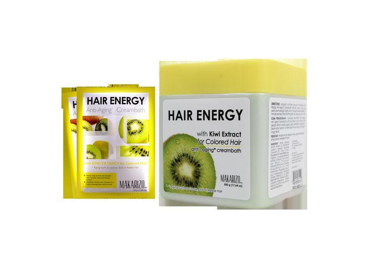 Cara merawat rambut rusak - HE kiwi extract