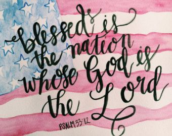 Psalm 33:12 painting by FaithfullyFramed on Etsy