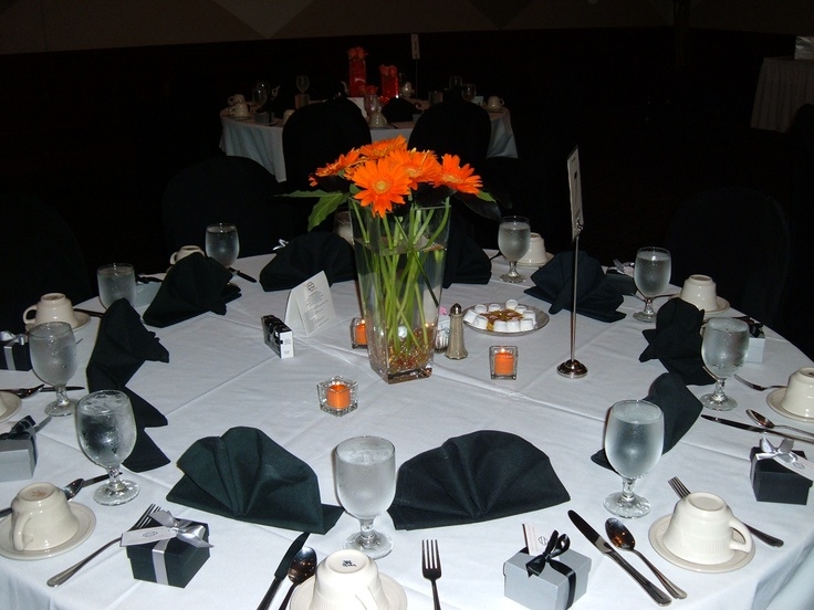 Black And Orange Harley Davidson Themed Wedding St Marys Cultural Center Livonia MI