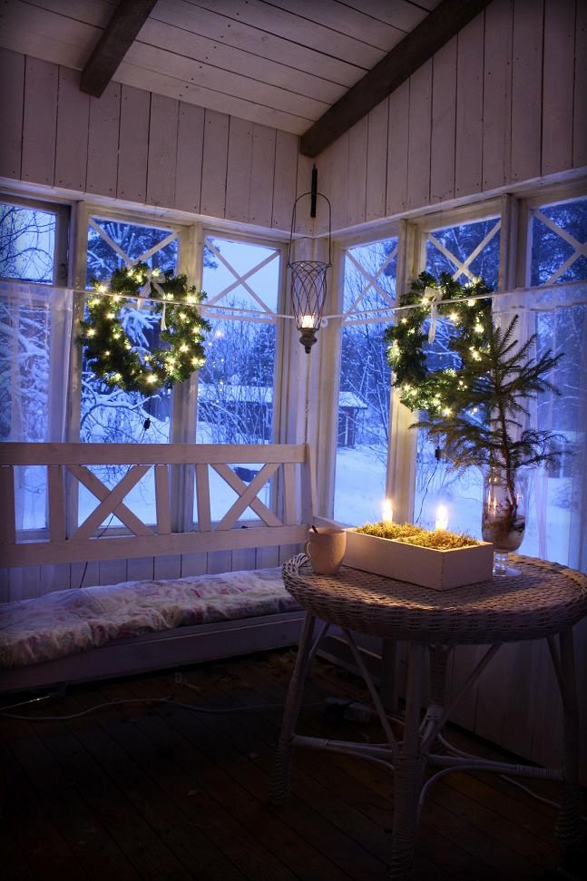 Christmas in glass veranda