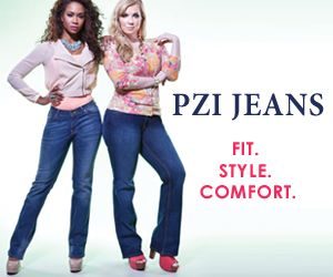 """PZI Jeans is the premiere denim brand for women with curves. Their jeans are designed to fit women with an hourglass shape. Their customers love that PZI Jeans has no gaping at the waist and more room in the hips and rear. They have been voted one of the """"Worlds Best Jeans"""" by O Magazine. They have a variety of styles and sizes ranging from 4 - 18. They also feature their jeans in various lengths from short to extra long. Their prices range from $69 to $99."""