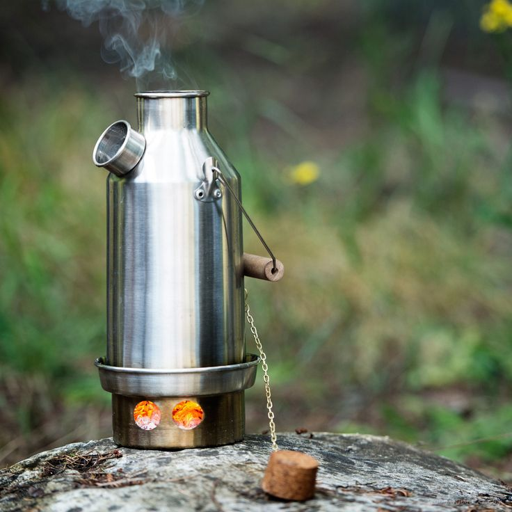 Kelly Kettle Stainless Trekker, $75.00 by Wood and Metal - want, no - need, no - MUST HAVE!!!!!!