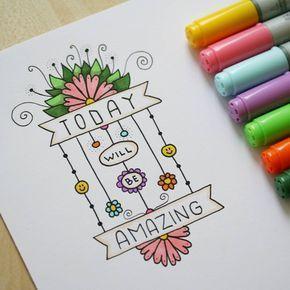 "Gefällt 383 Mal, 7 Kommentare - Valeria Estonia ✌ RU (@blackberryjelly) auf Instagram: ""#drawing #doodle #lettering #markers #flower #todaywillbeamazing #inspiration #instaart #art…"""