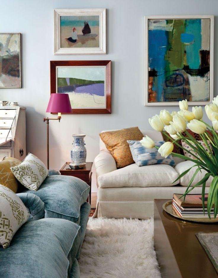 Gallery wall love // art, gallery walls, ikat