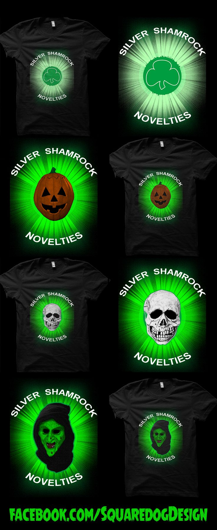Cheesy 80s Halloween Horror? Surely that's the best kind! Available at a discount for a limited time! Silver Shamrock- https://www.teepublic.com/t-shirt/716870-silver-shamrock Silver Shamrock Pumpkin Head- https://www.teepublic.com/t-shirt/716881-silver-shamrock-pumpkin-head Silver Shamrock Skull- https://www.teepublic.com/t-shirt/716888-silver-shamrock-skull Silver Shamrock Witch- https://www.teepublic.com/t-shirt/716892-silver-shamrock-witch #Halloween #SilverShamrockNovelties #HorrorFan