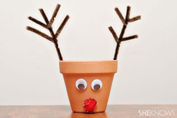 Reindeer centerpieces for Santa breakfast