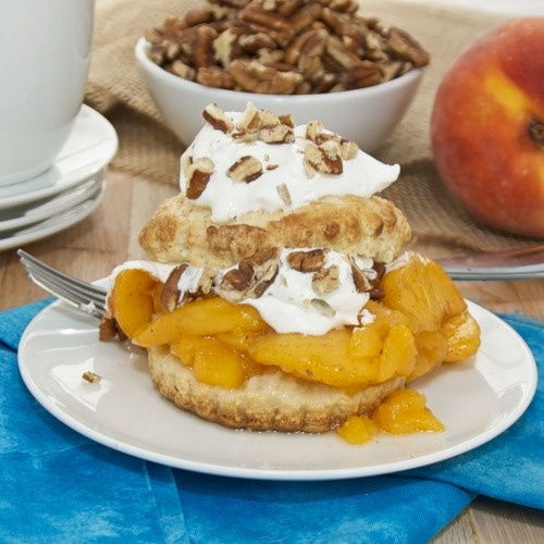 Peach Shortcakes with Bourbon Whipped Cream {Sweet Pea's Kitchen}
