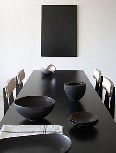 French Design Firm Studio Ko Black Dining Roomsblack Tablack